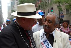 Archbishop Timothy Dolan Greets Rangel