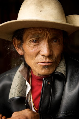 Portrait of a man in Tibet