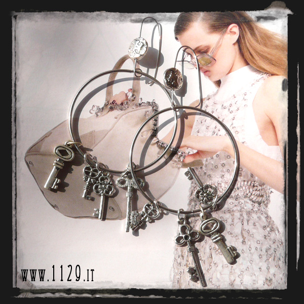 orecchini chiavi - keys earrings LCKEYS