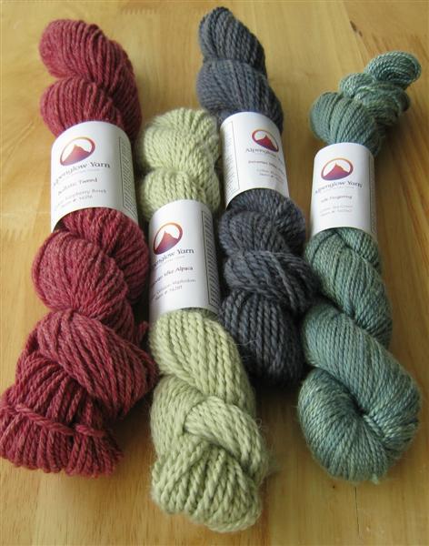 Alpaca/Silk, Silk, and Wool/Cotton