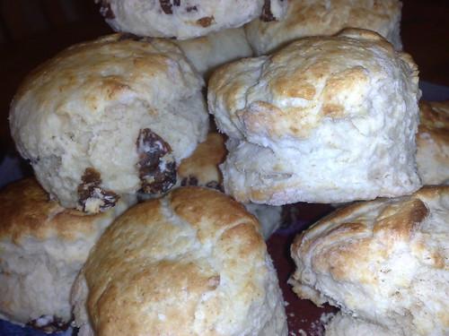 Close up scones