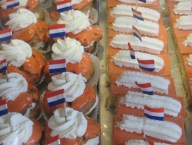 Orange eclairs and Tompouces