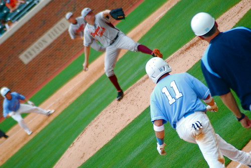 baseball: vatech @ unc, game 3