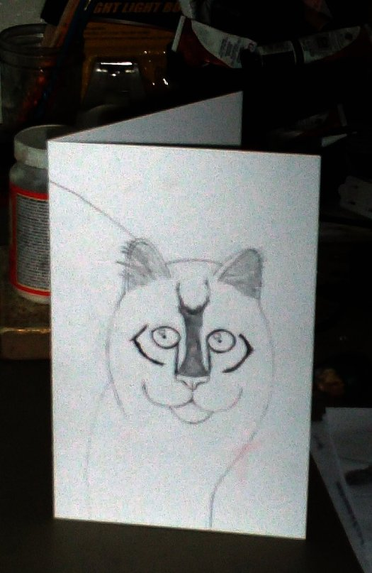 Drawing My Cat Card