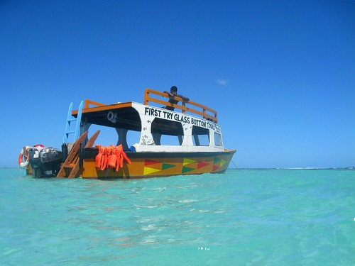 our glass-bottom boat