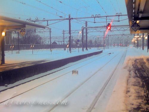 Utrecht Centraal helada y nevada