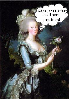Marie Antoinette on Bag Fees
