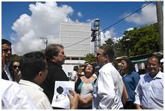 Governador Eduardo Campos visita obras em Olinda
