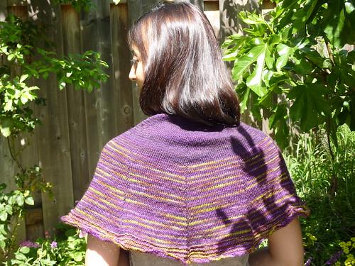 Daybreak worn as shawl