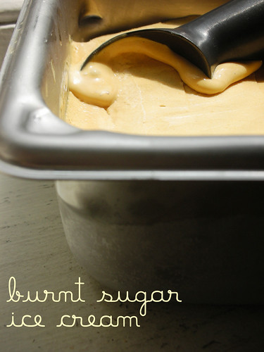 burnt sugar ice cream