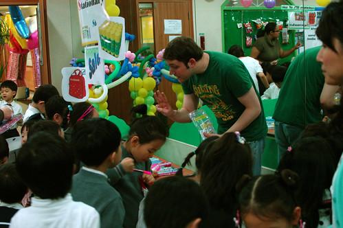 David selling school supplies