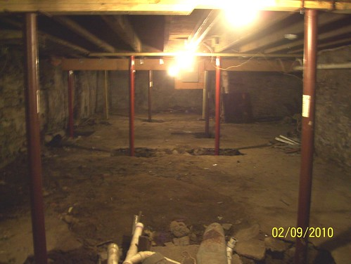 cellar - view of structural work