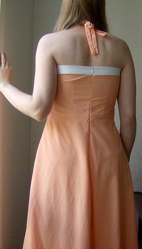 peach sundress back