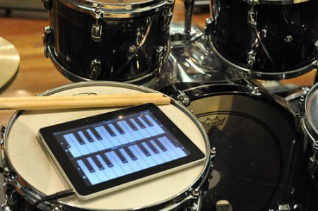 iPadはリハスタジオでも大活躍
