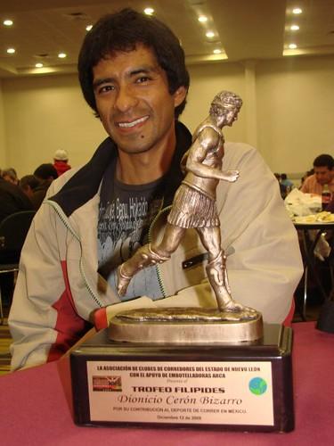 Maratonista Mexicano Dionisio Ceron. Trofeo Filipes Monterrey