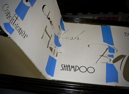 words cut out sticker mirror stencil