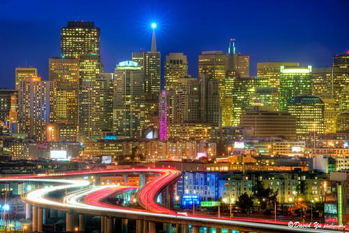 Downtown Cityscape San Francisco by davidyuweb