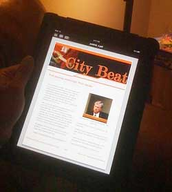 A Printcast on the iPad.