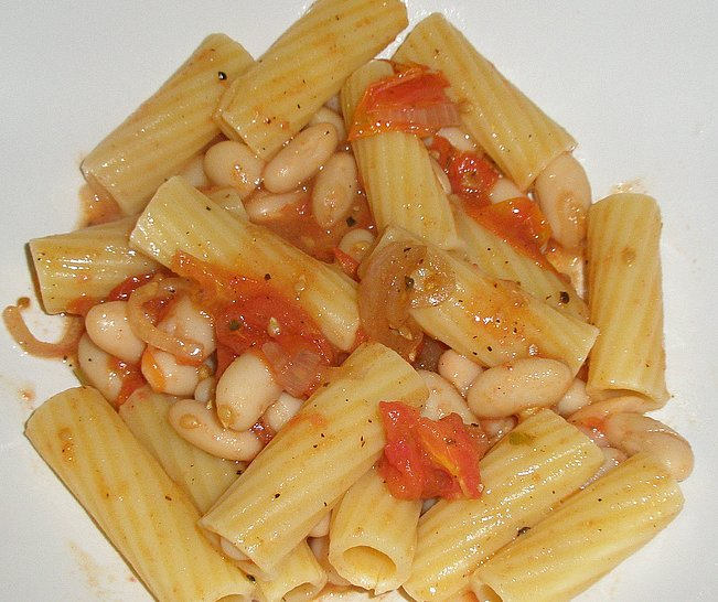 pasta with oven roasted tomatoes