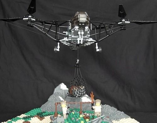 LEGO Focke-Achgelis Fa 223 with diorama
