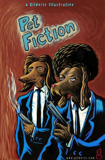 Pet Fiction -Illustration de Gilderic (d'après Pulp Fiction de Tarantino)