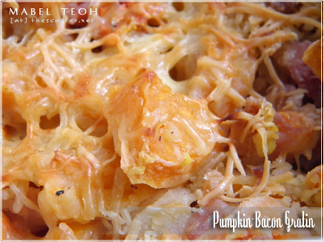 Pumpkin-Bacon Gratin