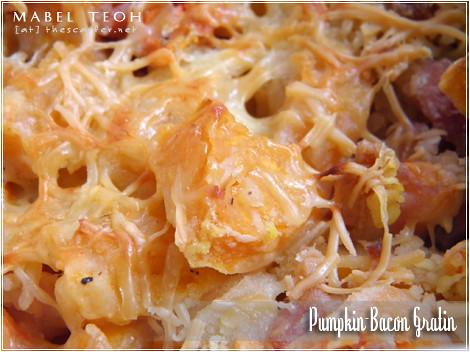 Pumpkin-Bacon Gratin