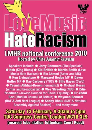 Unite Against Fascism and Love Music Hate Racism