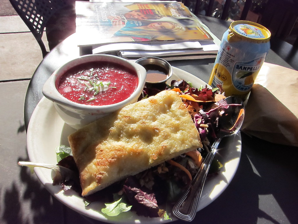 Sunny cafe lunch - outdoors in February!?!