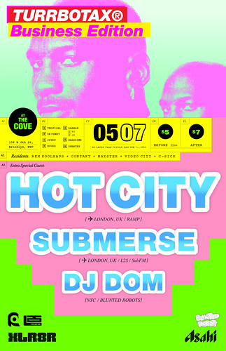 TURRBOTAX® May Hot City Submerse DJ Dom HGLDT