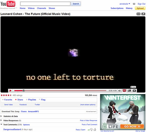 Second Life Advert spotted on YouTube