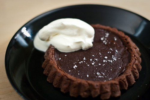 Chocolate caramel tartelette