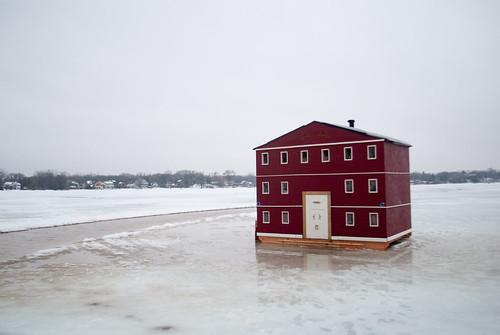 tiny shanty, in-lake property