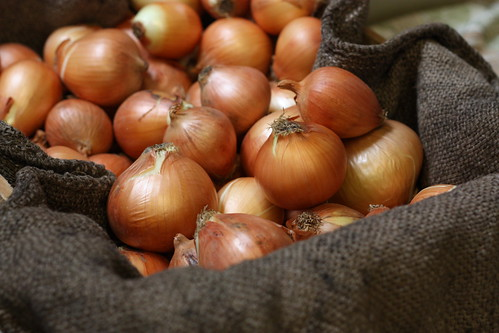 Burlap and onions