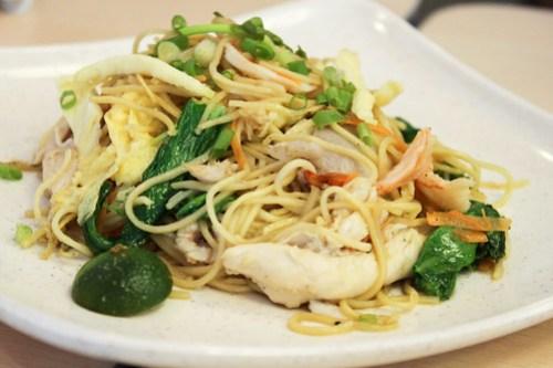 Pancit Chino at Singapore Chicken Rice