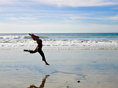 beach leaping!