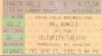 Mr. Bungle, Celebrity Theatre