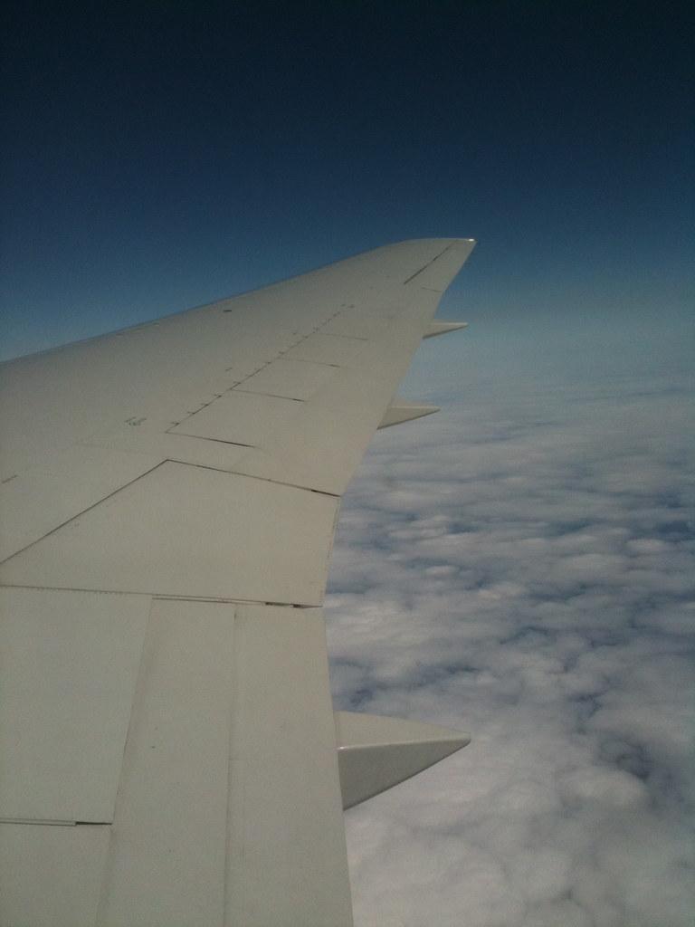 plane, clouds