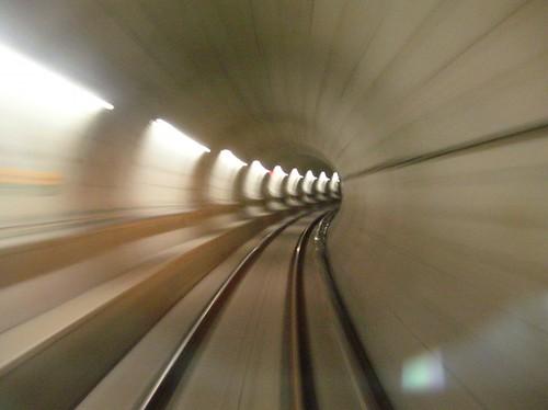 Canada Line nb tunnel under False Creek