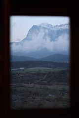 The Pyrenees from our hotel room in Ainsa