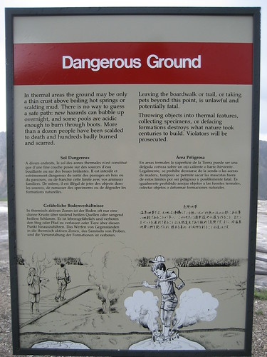 dangerous ground sign