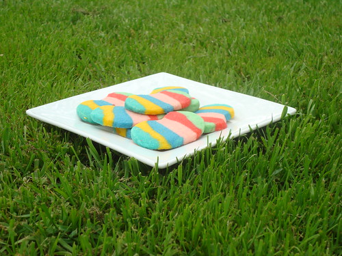 Rainbow Jellybean Shortbread Cookies