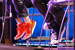 Damian Kulash and Tim Norwind's colorful shoes