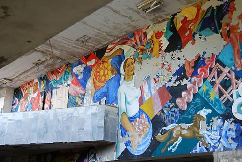 Mural en en centro de deportes - Copyright Roser Martínez