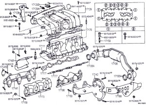 3vz intake manifold, hoses, and upper injection diagrams