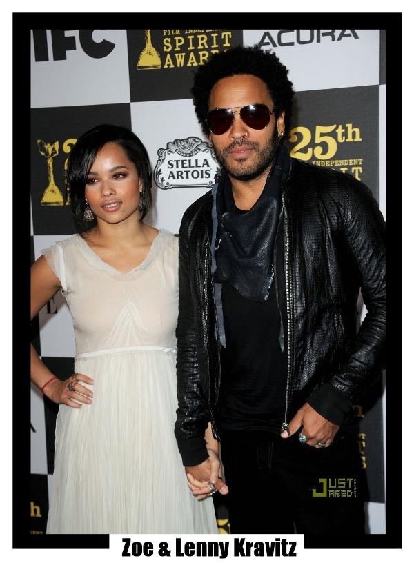 Zoe & Lenny Kravitz