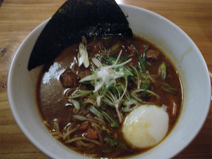 Curry beef ramen