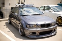 oem bmw e46 roof rack with thule faring and bike rack ...