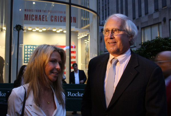 Jayni Chase and Chevy Chase