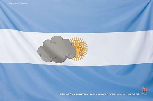 Y los ingleses también se mofan de los porteños. Así anunciaban el partido Inglaterra-Argentina